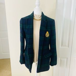 Ralph Lauren Women's Plaid Crest Blazer